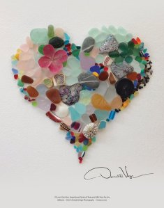 sea-glass-heart-poster