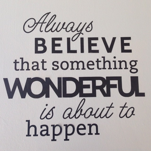 Always Believe Something Wonderful: BIG LEARNING: It's A Mental Thing.