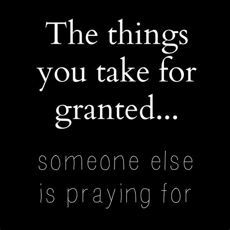 Taking others for granted